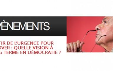1ère édition des Up Conferences avec M. Rocard – Sortir de l'urgence pour innover – Paris le 4 avril