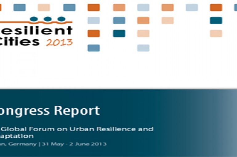 Retour sur le congrès mondial resilient cities:Forum mondial sur la résilience et adaptation urbaine