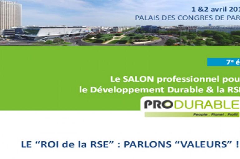 7 éme édition de PRODURABLE – Paris le 1er et 2 avril