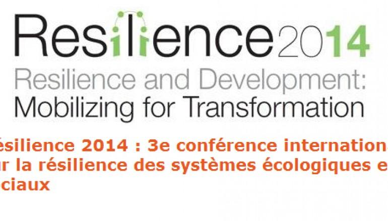 3e conférence internationale Résilience 2014 – Montpellier Mai 2014