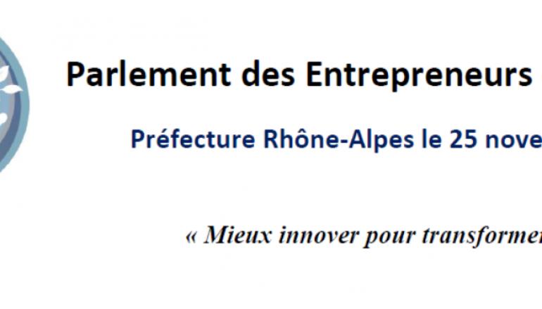 Le Parlement des Entrepreneurs d'avenir 2014 – Le 25 novembre Lyon