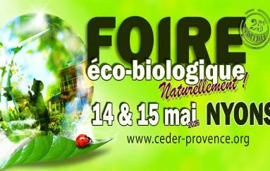 Foire éco-biologique Naturellement ! Nyons (26) le14 et 15 mai