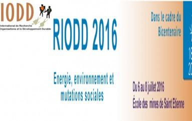 les relations entre « Energie, Environnement et Mutations sociales – 6 au 8 juillet 2016 – St-Etienne.