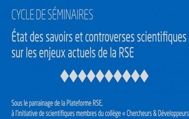 Cycle de séminaires Plateforme nationale d'actions globales pour la responsabilité sociale des entreprises – Janvier à Juin 2016 – Paris