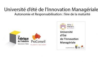 Université d'été de l'Innovation Managériale (Arts & Métiers ParisTech) – Paris le 5 septembre